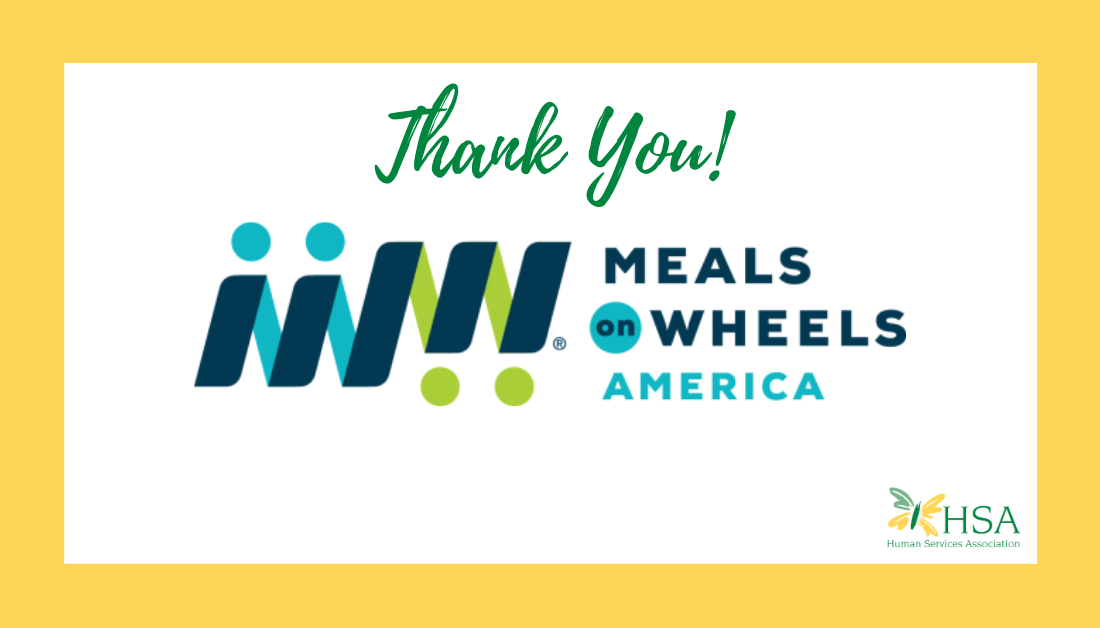 HSA Awarded $50,000 Grant by Meals on Wheels America