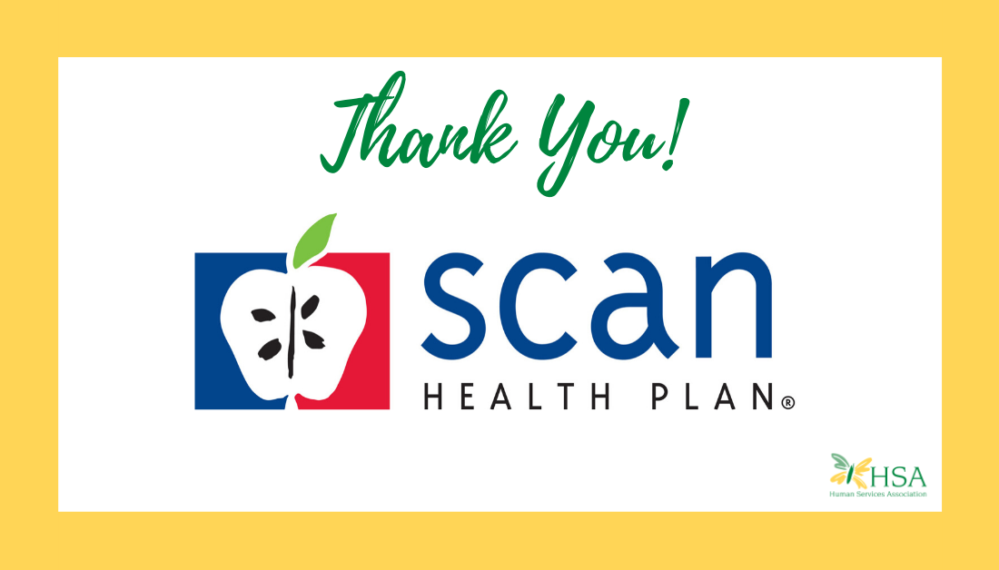 HSA Receives Donation of $2,472.22 from SCAN Health Plan